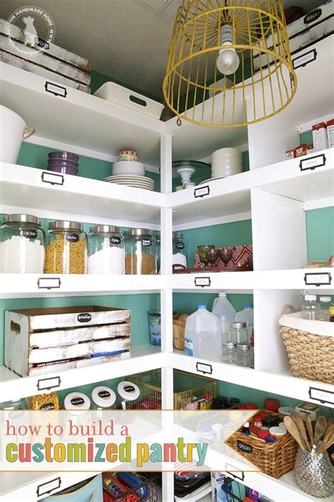Build A Pantry In Your Kitchen pantry makeover the handmade home