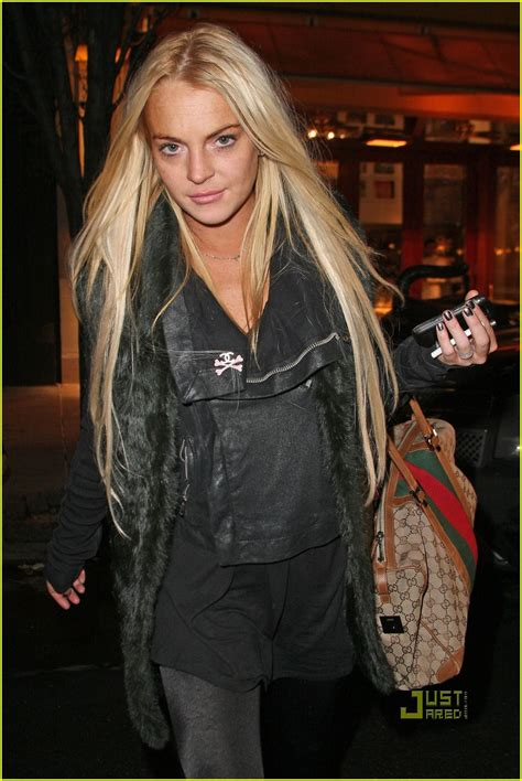 Lindsay Lohans Gucci Bag by Lindsay Lohan Century 21 Shopping Spree Photo 2403834