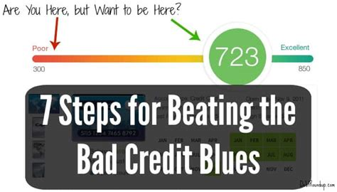 how can a person with bad credit buy a house defeating the 3 digit downer 7 steps for beating the bad credit blues debt roundup
