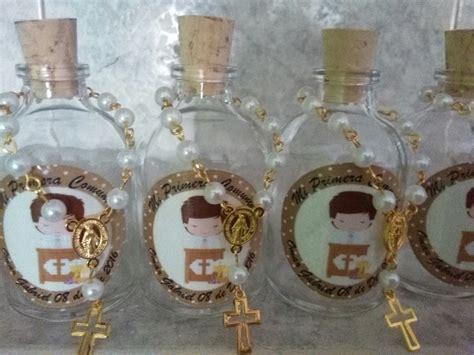 recuerdos en botella primera comunion botella con denario recordatorio bautizo primera comunion 3 200 en mercado libre