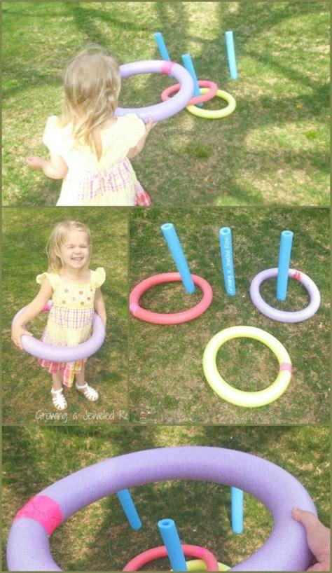 Backyard Using Pool Noodles Easy To Make Backyard Pool Noodle Ring Toss Na