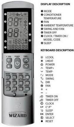 Remote Remot Ac Changhong Multi universal air conditioner remote codes us4