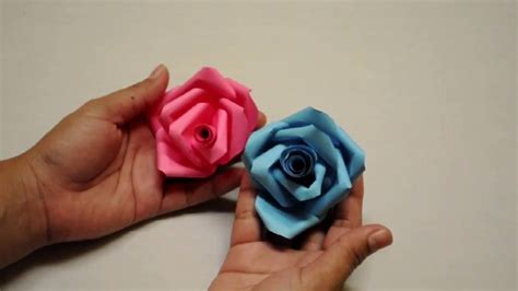 cara membuat origami bunga 3d cara membuat origami bunga mawar 3d detail youtube