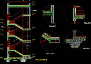 Stairs Details Dwg by Details Stairs In Autocad Drawing Bibliocad
