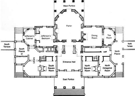 monticello second floor plan monticello america s first great mansion daydream tourist