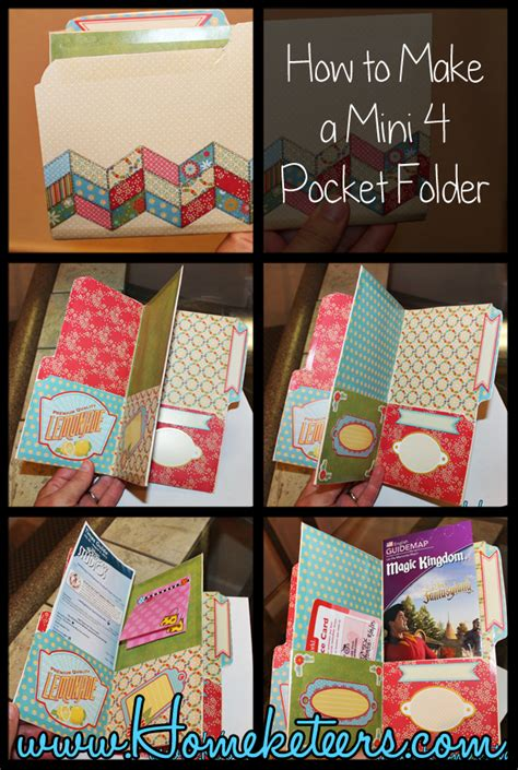 How To Make A Paper Pocket Folder - how to make a mini pocket folder organizer