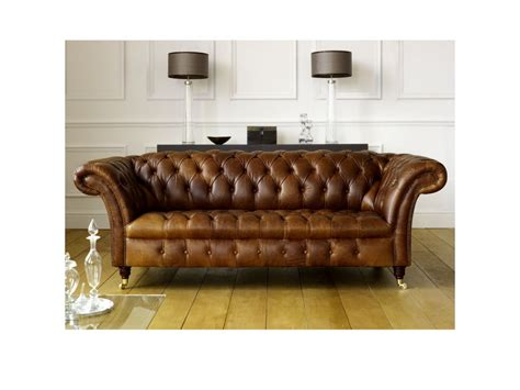 retro leather sofas the barrington vintage leather chesterfield sofa