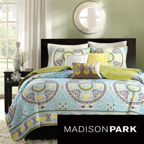 madison park bali 6 piece coverlet set contemporary