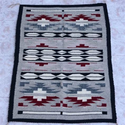 crownpoint rug auction navajo crown point rug wool circa 1980 s 26 quot x 36 quot