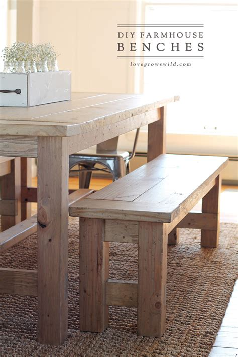 Farmhouse Dining Room Tables by Diy Farmhouse Bench Love Grows Wild