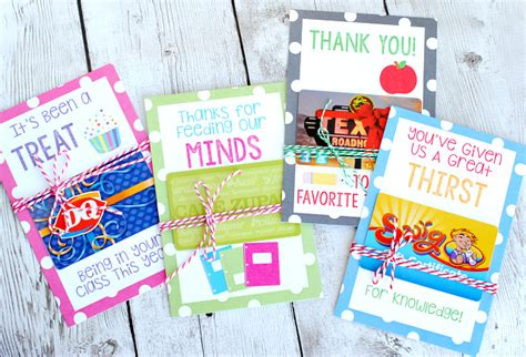 Teacher Appreciation Gift Card Holder Printable - teacher appreciation gift card holders skip to my lou