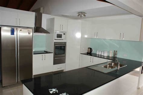 kitchens with black bench tops black benchtop with white cabinets ideas for our new