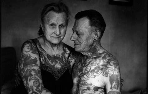 tattoo couple old school 23 seniors that prove tattoos can still look cool on old