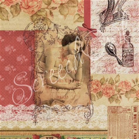 Decoupage Paper Suppliers - ephemera collage paper vintage from screechowl design studio