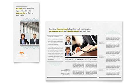 legal services marketing brochures flyers datasheets