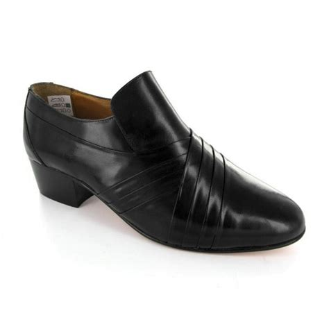 rombah wallace carnaby mens pleated leather cuban heel