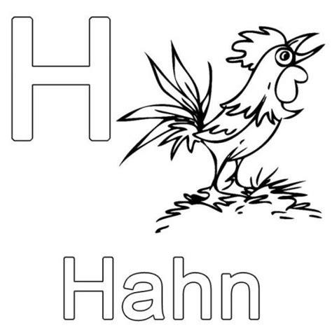 Kostenlose Vorlage Buchstaben Kostenlose Malvorlage Buchstaben Lernen H Wie Hahn Zum Ausmalen