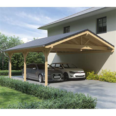 steda carport carport satteldach leimholz holz 6x9 m 600x900 cm