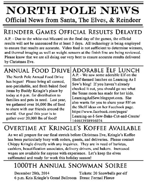 Printable Elf Newspaper | pimp your elf on the shelf free printables take it