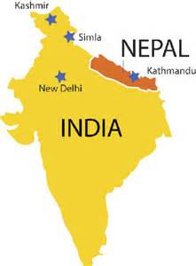 India Nepal Map by North India Amp Nepal