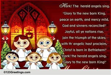 angels singing christmas carol  carols ecards greeting cards