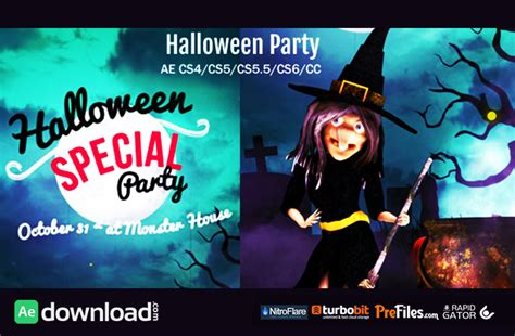 template after effects halloween free halloween party wish videohive project free download