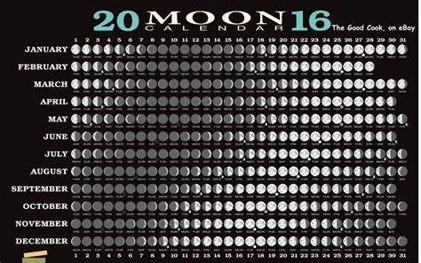 Moon Phases Calendar Image Gallery Moon Phases 2016