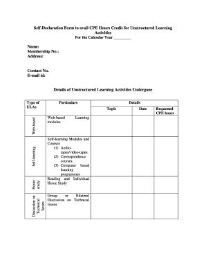 Credit Hour Form Self Declaration Letter Format Sle In E Verification Letter 8 Exles Pdf Worddeclaration