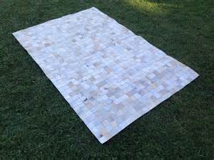 Patchwork Cowhide Rug 8x10 New Cowhide Rug Leather Animal Skin Patchwork Area Carpet