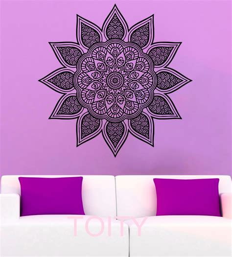 indian pattern wall stickers mandala wall stickers namaste yoga vinyl decal indian