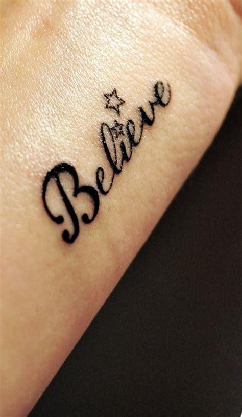 tattoo love words words tattoo belive cute tattoo