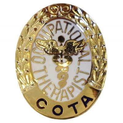 certified therapy 1062 certified occupational therapy assistant pin