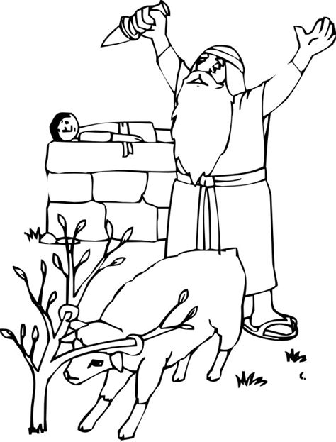Abraham And Isaac Coloring Pages Abraham And Isaac Coloring Page