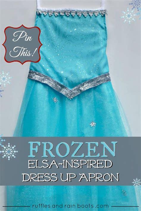 Tutorial Apron Dress   frozen inspired queen elsa dress up apron tutorial apron