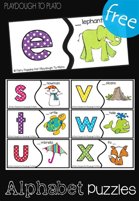 printable alphabet puzzles alphabet puzzles playdough to plato