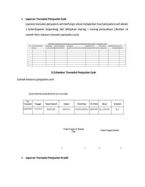 contoh laporan quantity surveyor sistem informasi penjualan motor bekas