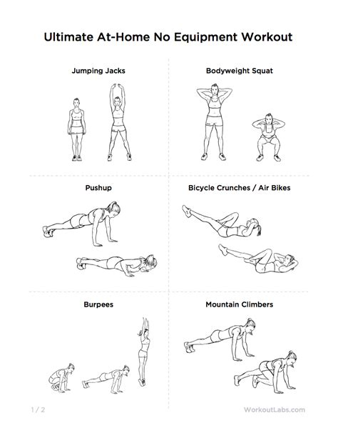 beginners workout plan for women at home ultimate at home no equipment workout routine for men