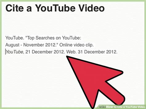 apa style format youtube video 4 ways to cite a youtube video wikihow