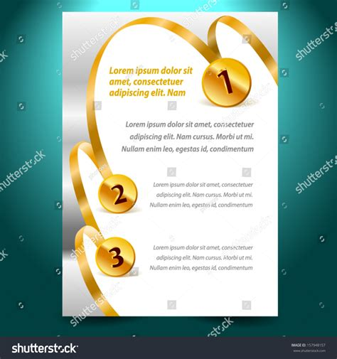 blank design template certificate ribbon award stock