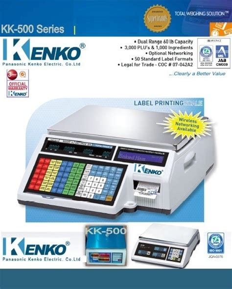 Jual Timbangan Digital Print Out timbangan digital kenko kk 500 series pt kenko elektrik indonesia