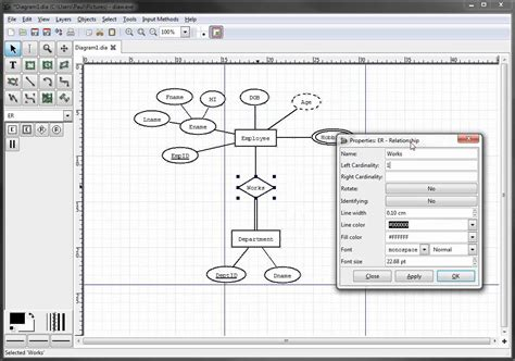 what is the er diagram er diagrams in dia part 9 illustrating cardinality