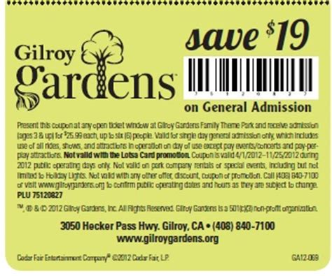 Gilroy Gardens Discount Tickets by The World S Catalog Of Ideas