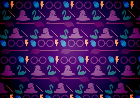 magic pattern background harry potter magic pattern download free vector art