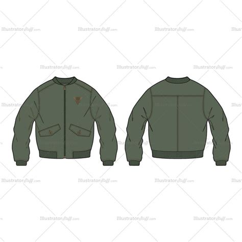 bomber jacket template s classic bomber jacket fashion flat template