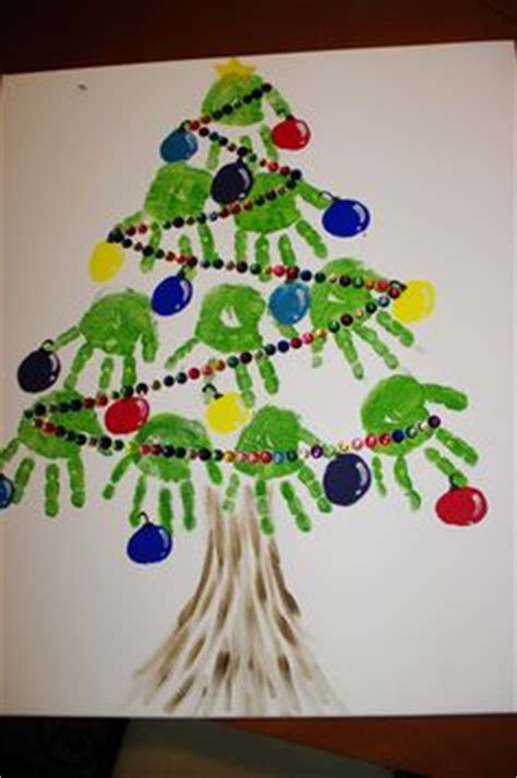 christmas tree crafts for preschool using handprint handprint tree canvas this is easy and there are simple on