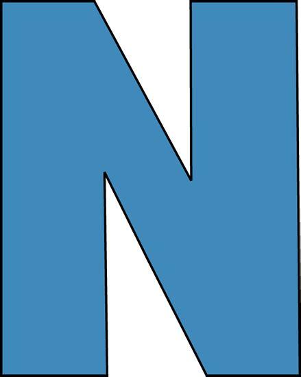 n clipart blue alphabet letter n clip blue alphabet letter n image