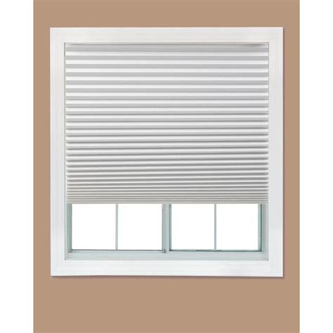 window coverings home depot redi shade white paper light filtering pleated shade 48