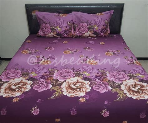 Sprei Fata Jacquard Motif Purple sprei motif purple flowers kisbedding