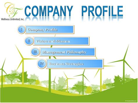 design company profile presentation cf wellness company profile presentation