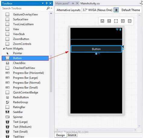 xamarin android textview layout ตอนท 6 xamarin ก บ android สร าง event handler โต ตอบ